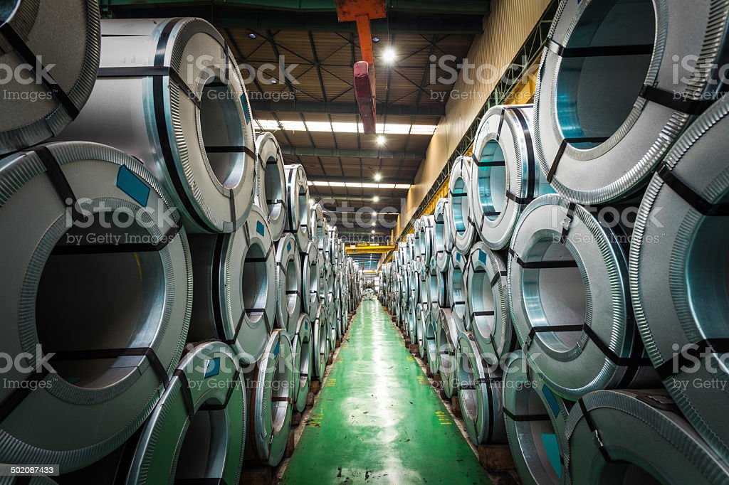Steel plant stock photo