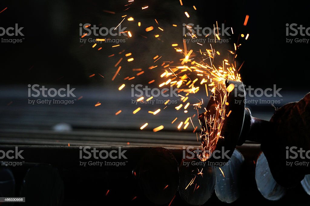 Steel plant scenery stock photo
