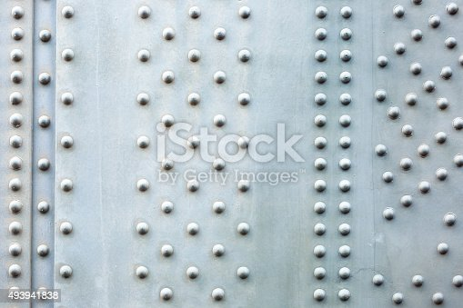 Steel plate background, closeup Harbour Bridge large steel beam with bolts, abstract background, full frame horizontal composition with copy space