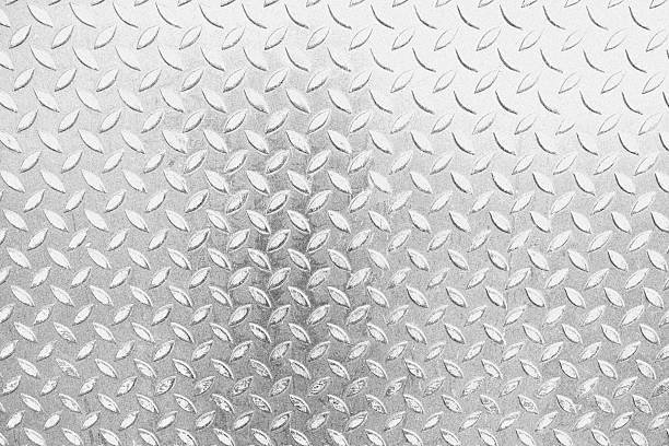 steel plate detail - diamond plate background stock photos and pictures