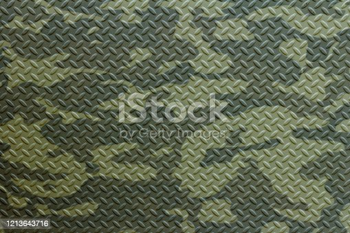 Steel plate painted with Russian military camouflage