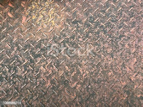 istock Steel plate with rusty on surface 1068685214