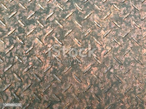 istock Steel plate with rusty on surface 1068685232