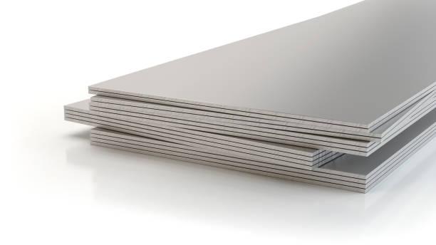 Stahlplatten, 3d Illustration – Foto