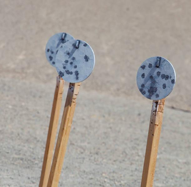 Stahlplatten für die Pstol-Zielpraxis – Foto