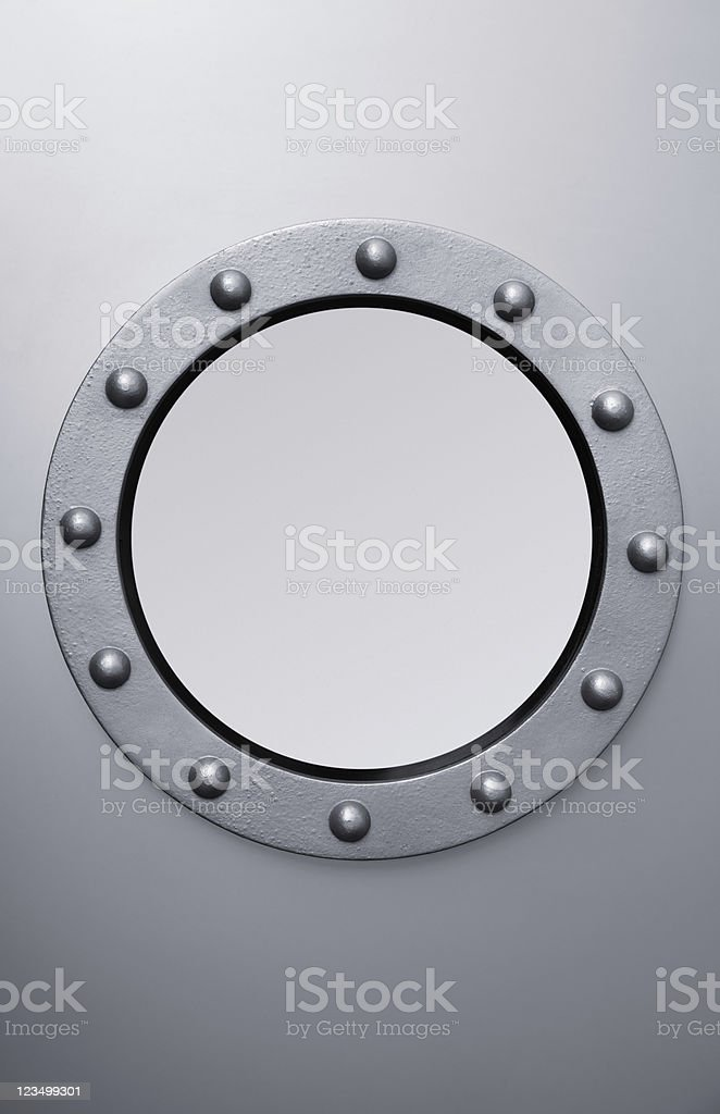Steel Porthole stock photo