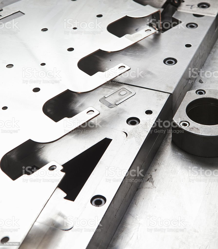 Steel punching plate stock photo