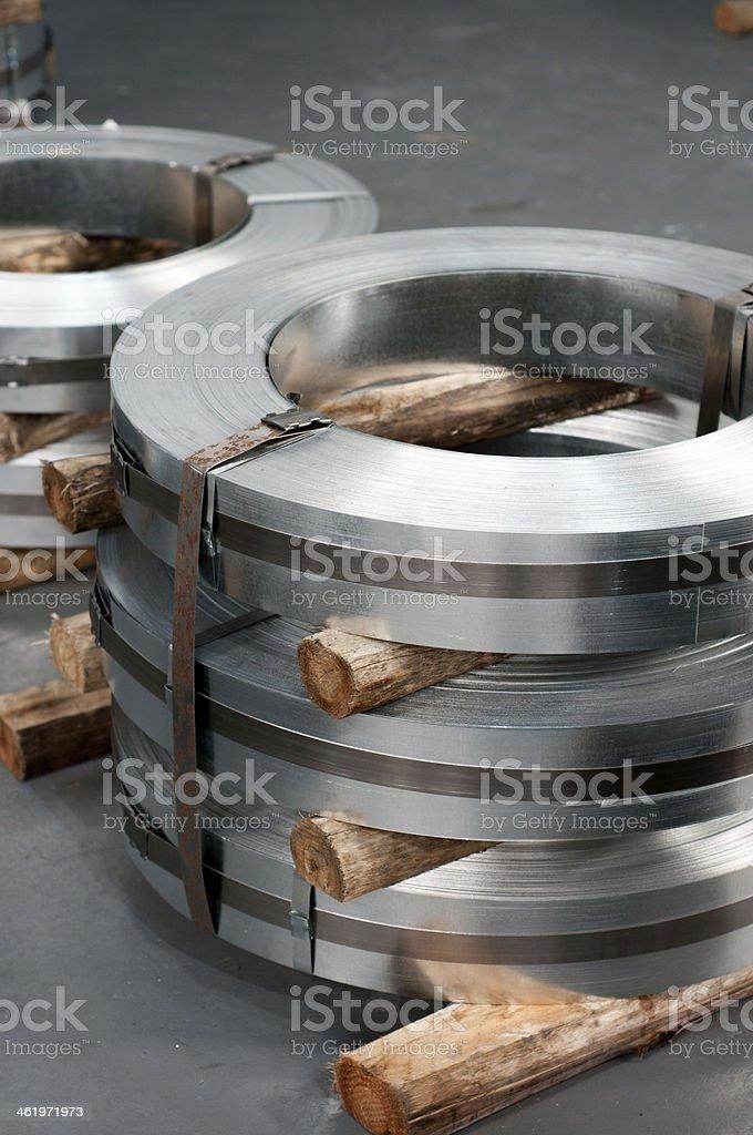 Pila de acero - foto de stock