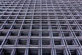 Steel Rebars for reinforced concrete.steel reinforcement bar texture in construction site.