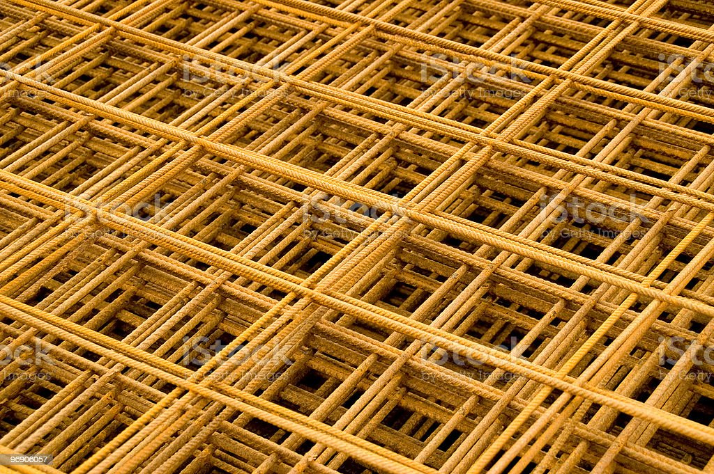 Steel reinforcement royalty-free stock photo