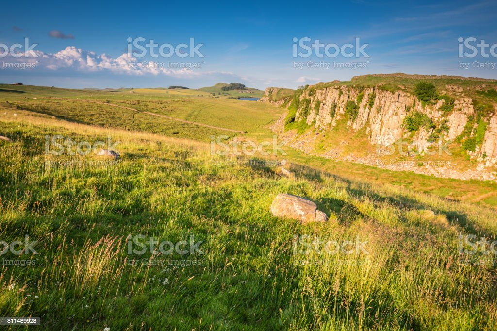 Steel Rigg and Peel Crags stock photo
