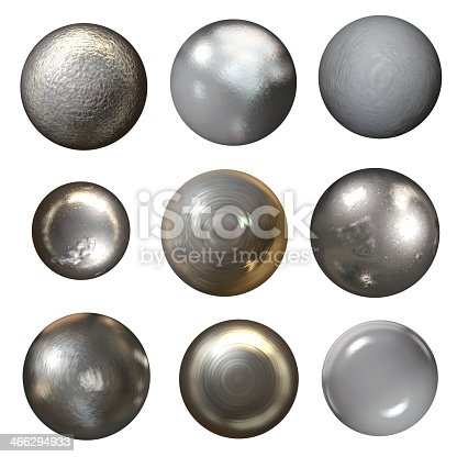 istock Steel rivet heads on a white background 466294933