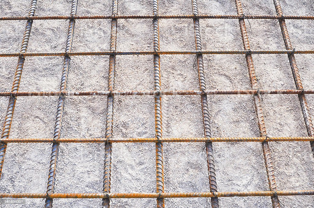 Steel rod mesh reinforcement royalty-free stock photo