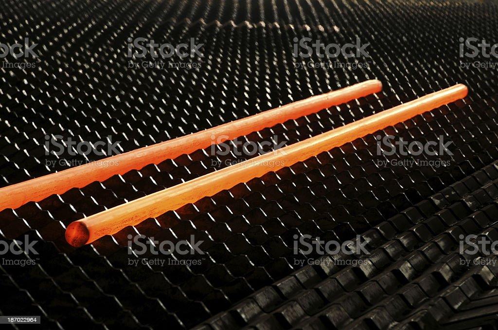 Steel rod stock photo