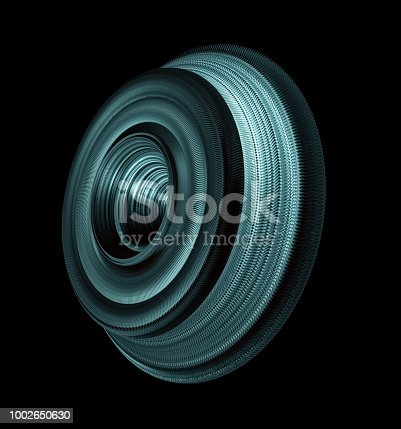 istock Steel Roller Wheel Isolated On Black Background 1002650630