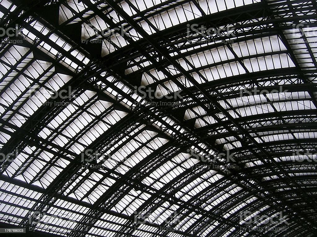 steel roof royalty-free stock photo
