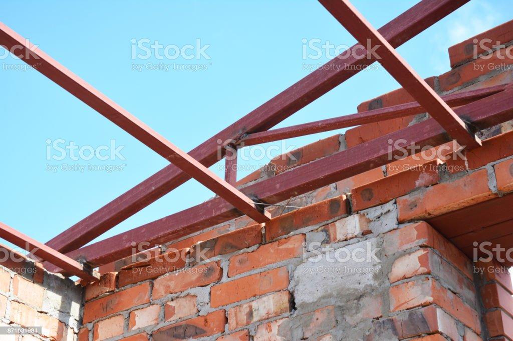 Steel Roof Trusses Corner Details Roofing Construction Steel Roof