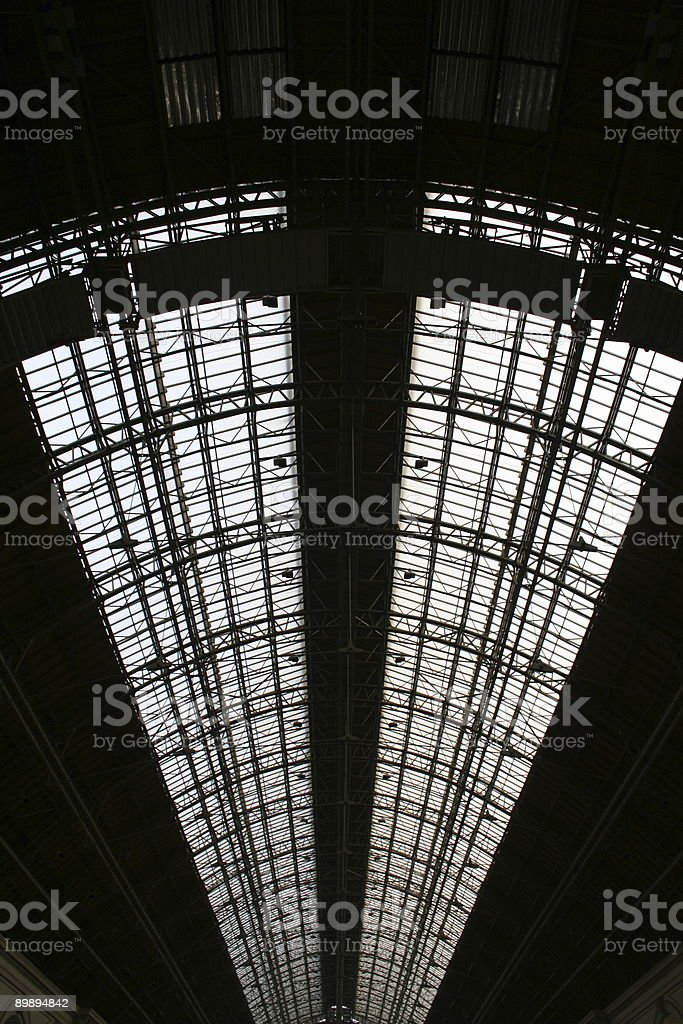 steel roofing royalty-free stock photo
