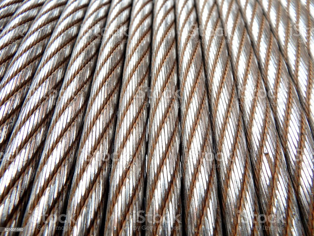Steel rope - background stock photo