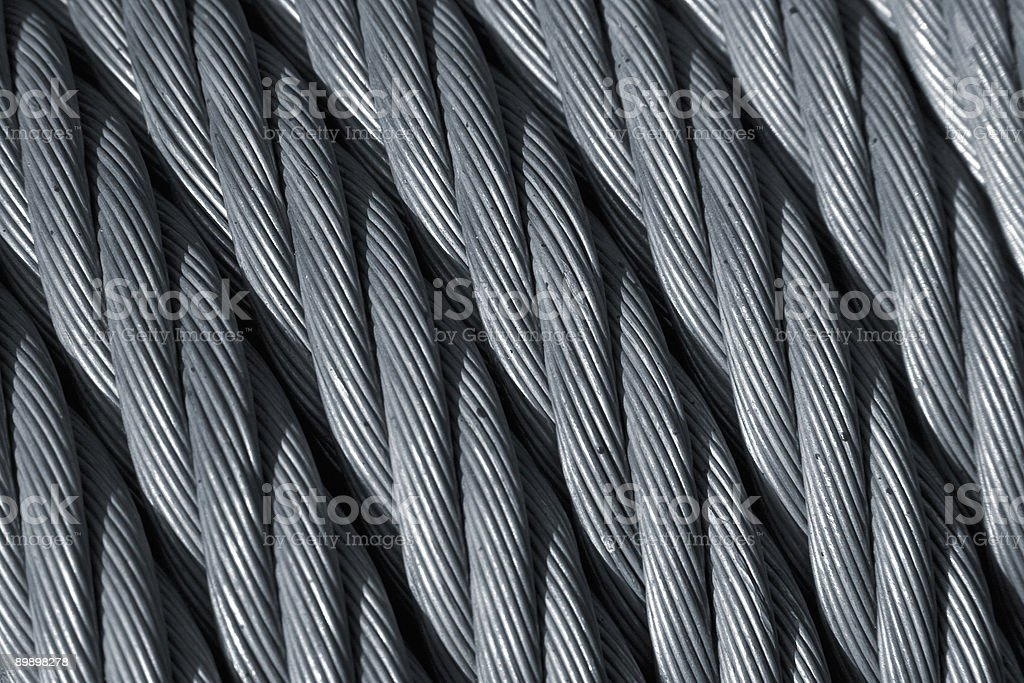 Steel rope royalty-free stock photo