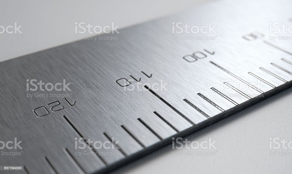 Steel Ruler Closeup stock photo