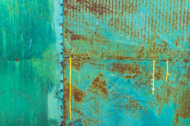 steel rusty old metal sheet. Abstract textured background stock photo