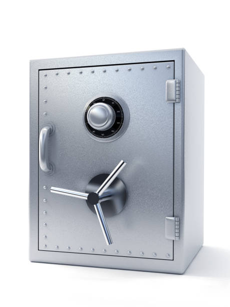 steel safe - safe stock photos and pictures