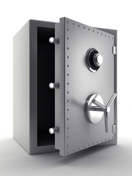 acier, coffre-fort - coffre fort équipement de sécurité photos et images de collection