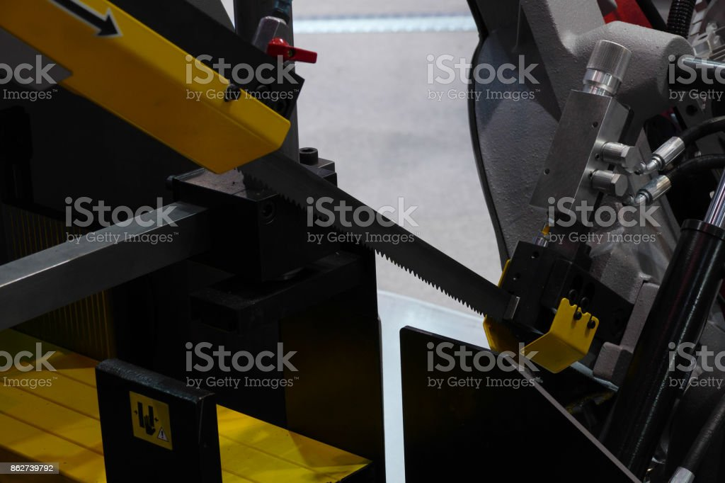 steel saw stock photo