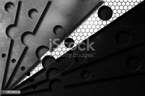 537816275 istock photo steel scratch knives blades stack one stands out from the crowdabstract futuristic design background 1128536329
