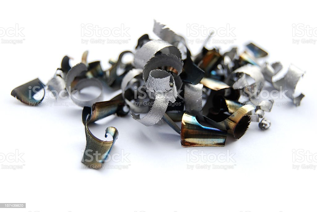 steel shavings stock photo
