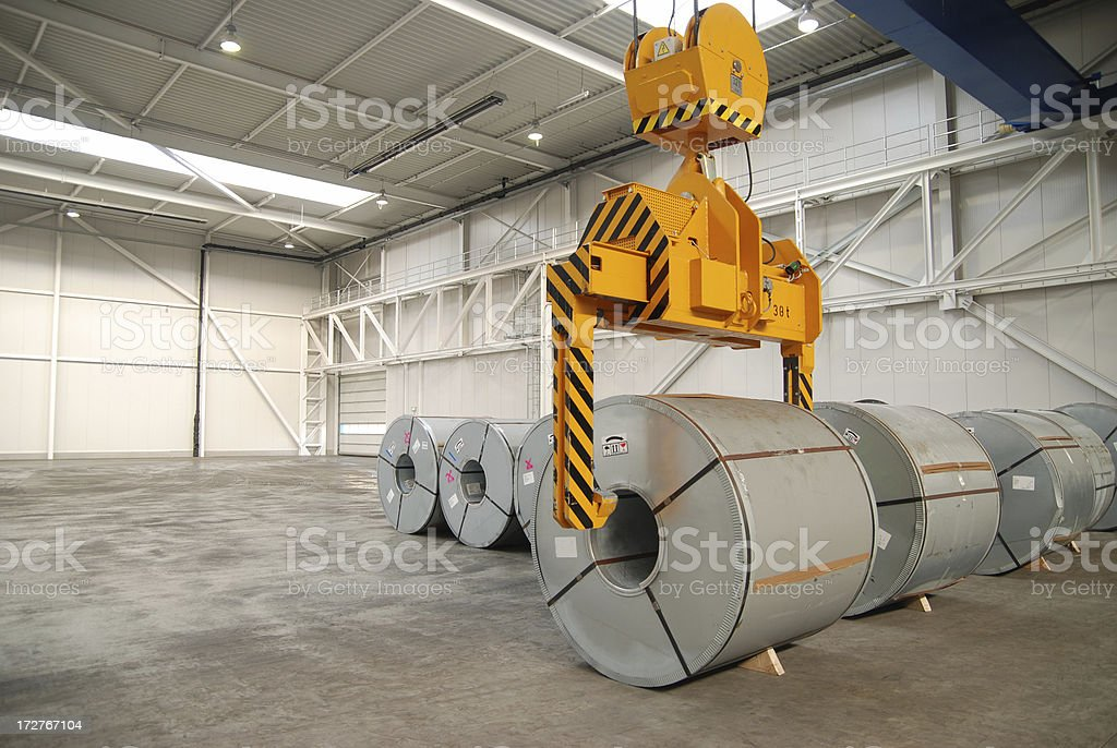 Steel sheet rolls stock photo