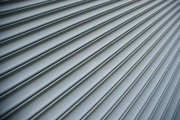 Steel Shutter Lines Background Diagonal Stripe stock photo