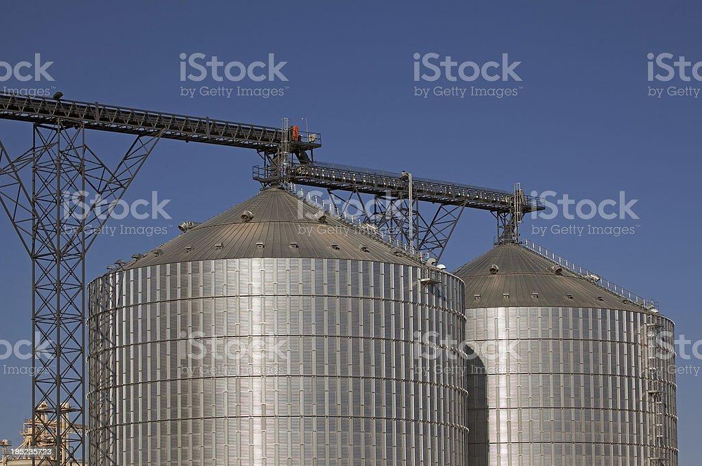 Steel Silos royalty-free stock photo