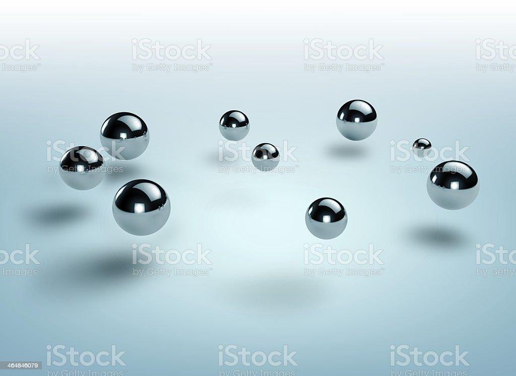 steel spheres stock photo
