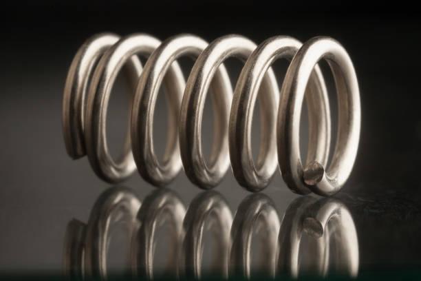 steel spring - molla foto e immagini stock