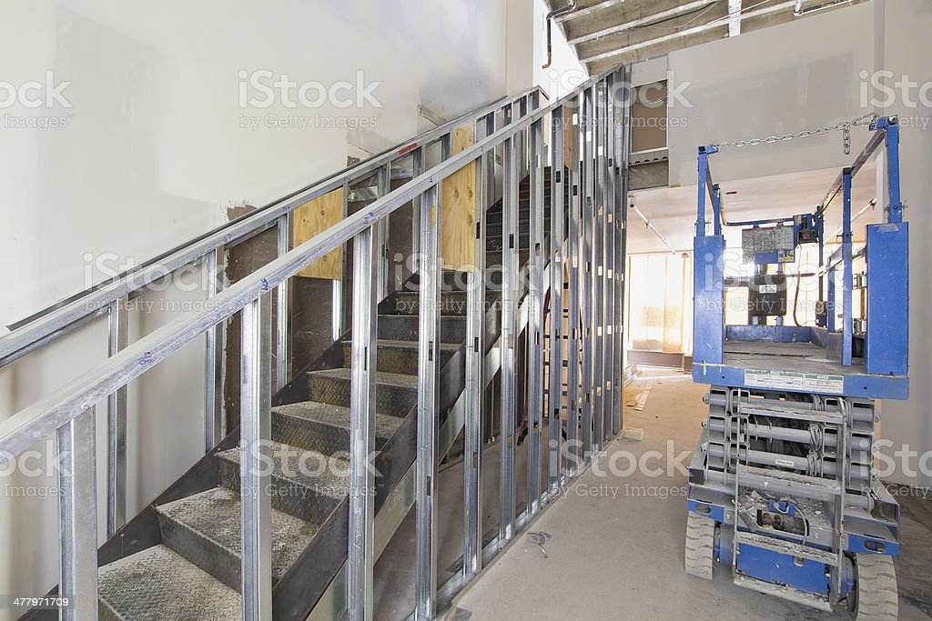 Steel Staircase Construction stock photo