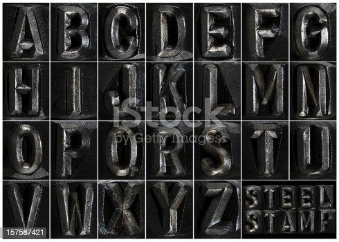 istock Steel Stamp Complete Alphabet 157587421
