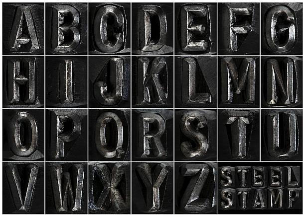 steel stamp complete alphabet - ruth 個照片及圖片檔