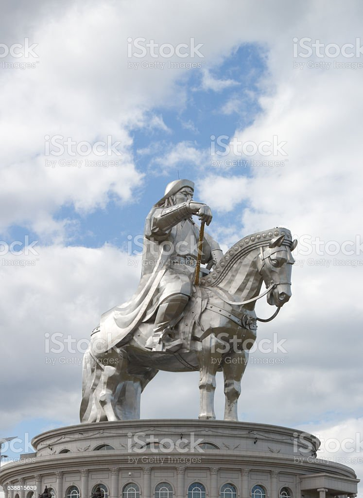 Acier Statue De Genghis Khan Stock Photo Libre De Droits 538815639