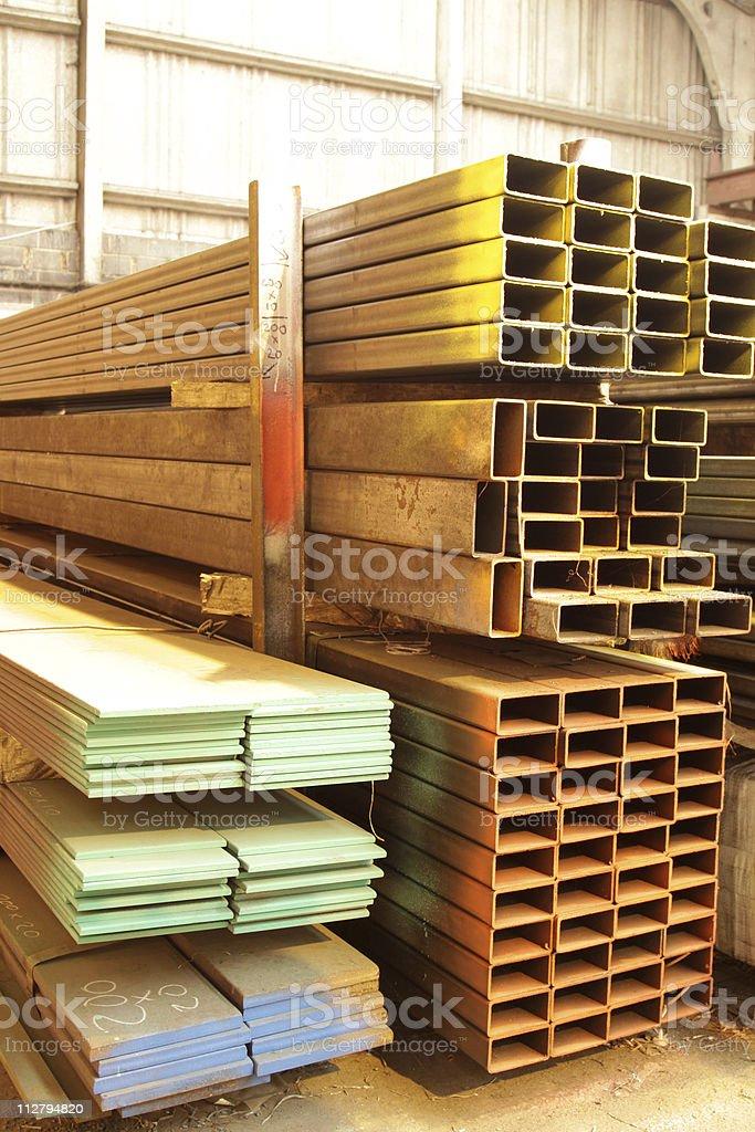 steel stockist royalty-free stock photo