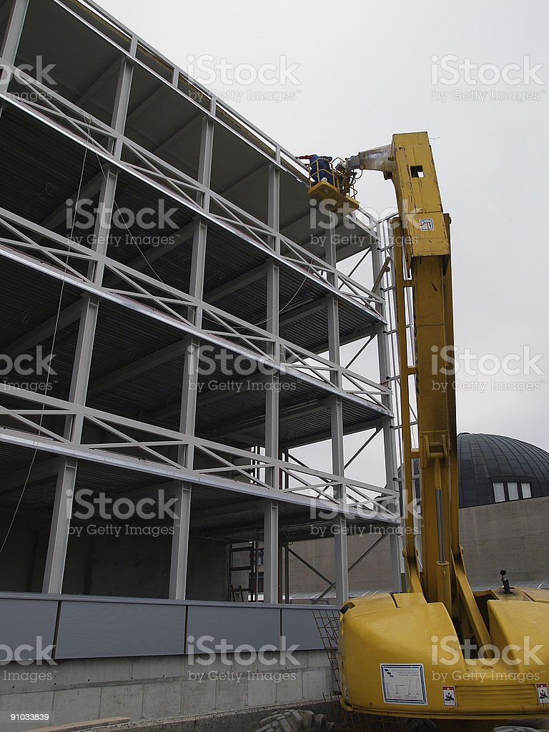 Steel structure 3 and crane stock photo