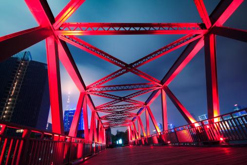 Steel structure bridge close-up night scenehttp://farm3.staticflickr.com/2842/9268652288_5083422fae_o.jpg