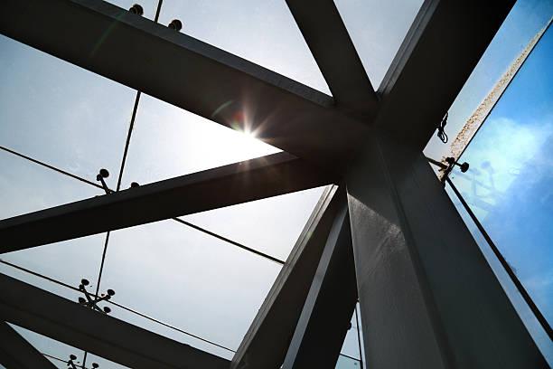 Steel structure bridge stock photo