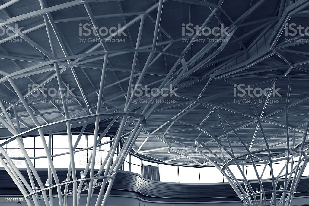 steel structure of building stock photo