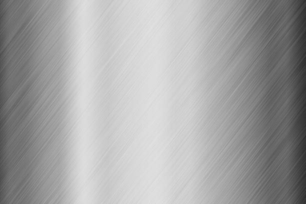 Steel surface background stock photo