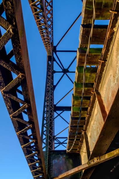 Steel Swing Bridge, Looking Up stock photo