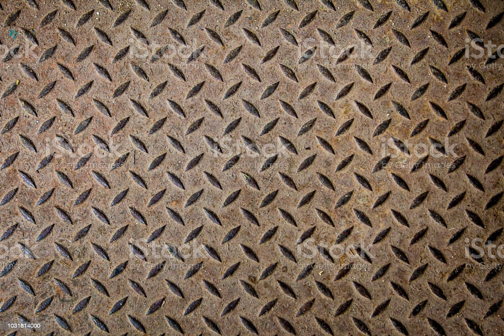 Steel Texture From Manhole Cover Metallic Background And Wallpaper
