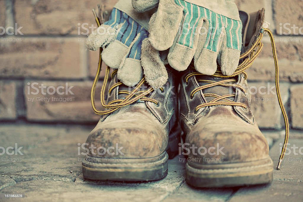 Steel Toe Boots stock photo