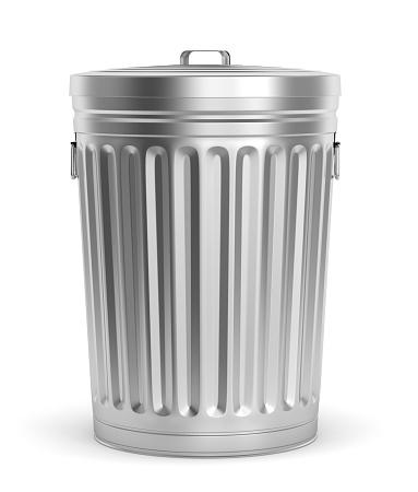 istock Steel trash can 520060762